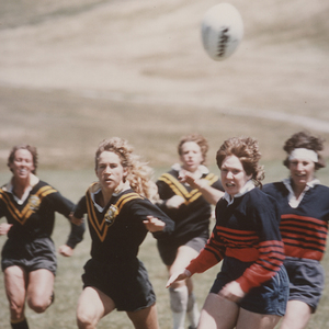 Women's rugby match in 1980